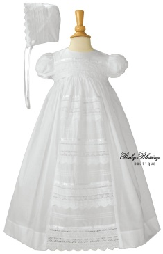 Baby Blessing Gown with Lace