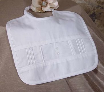 Sateen Bib with Pin Tucking
