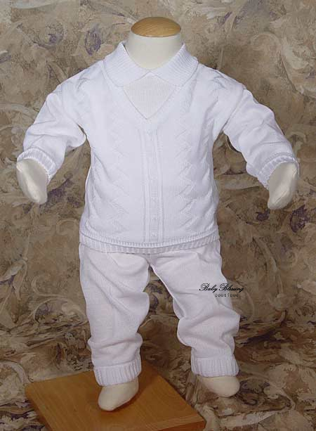 Blessing Clothing for Baby Boys White Rompers, bibs, short sets, outfits, creepers, sweaters, hats, tuxes, blankets, shoes, pacifier clip, diaper cover Dressed in White Latter Day Boutique Blessings & .