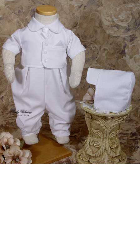 Baby Boy White Blessing Outfit