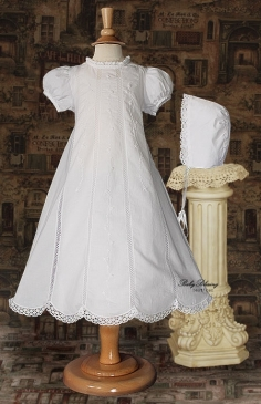 Baby Dress White with Cutwork