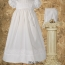 Infant Blessing Dress with Rose Lace