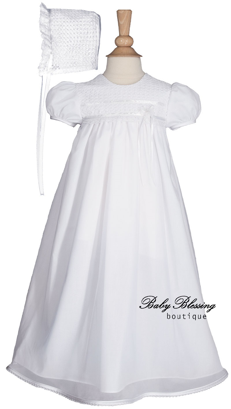 sheer baby blessing dress BBBoutique