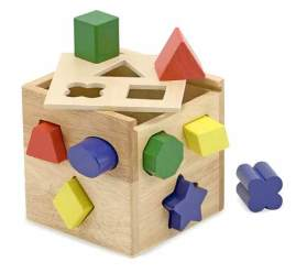 Wooden Shape Cube